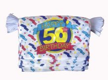 HAPPY 50TH BIRTHDAY BUNTING - 9 METRES 30 FLAGS